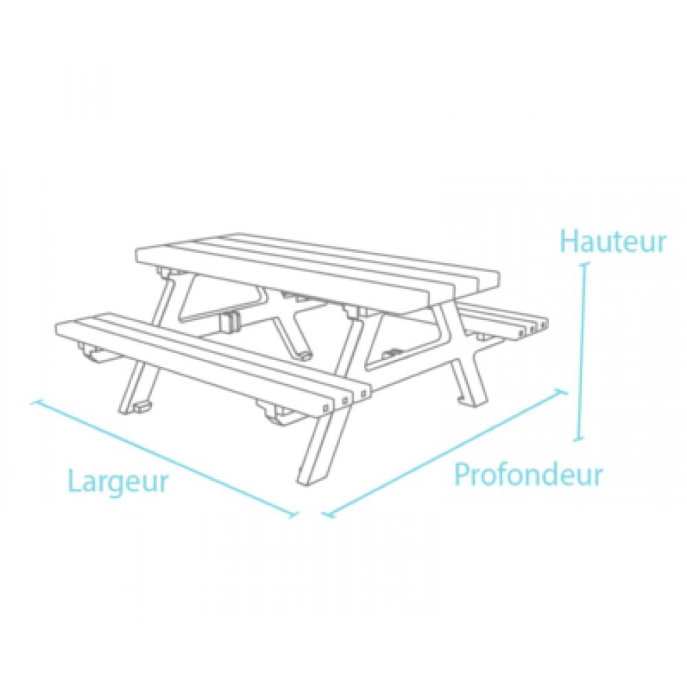 Table de pique-nique SOLARIA en plastique recyclé - Tables ...