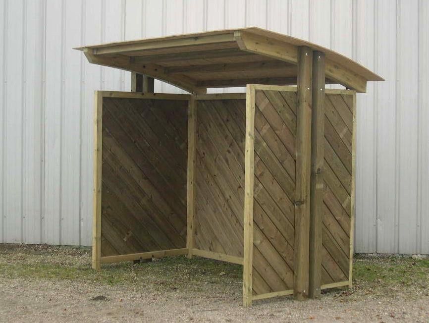 abri pour arr t de bus en bois toit cintr. Black Bedroom Furniture Sets. Home Design Ideas