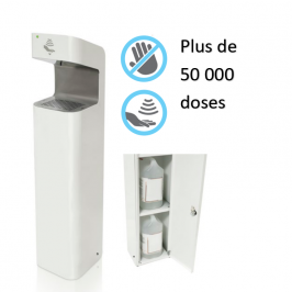 EVEREST , distributeur automatique grand trafic pour gel hydroalcoolique