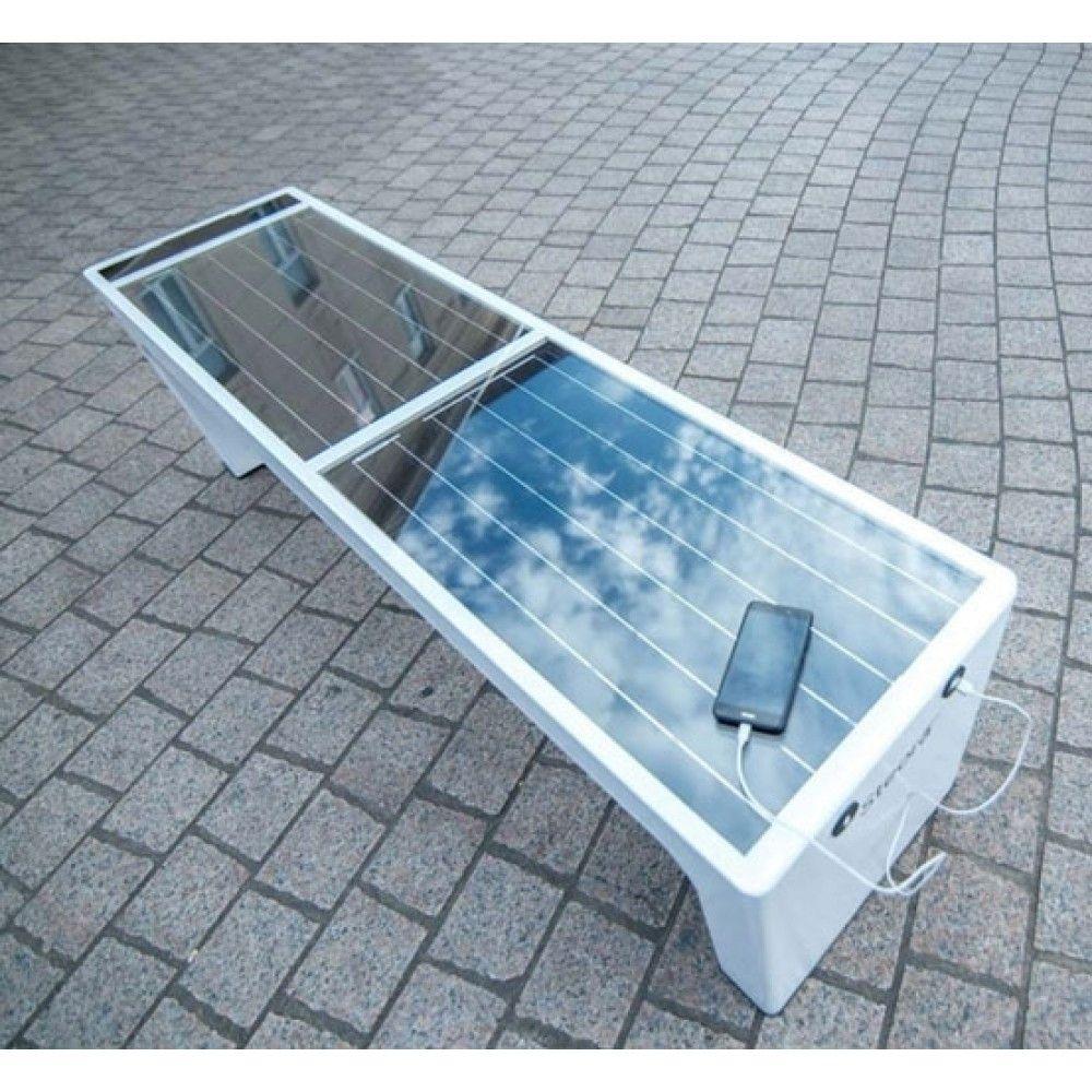 banc urbain intelligent connecté solaire