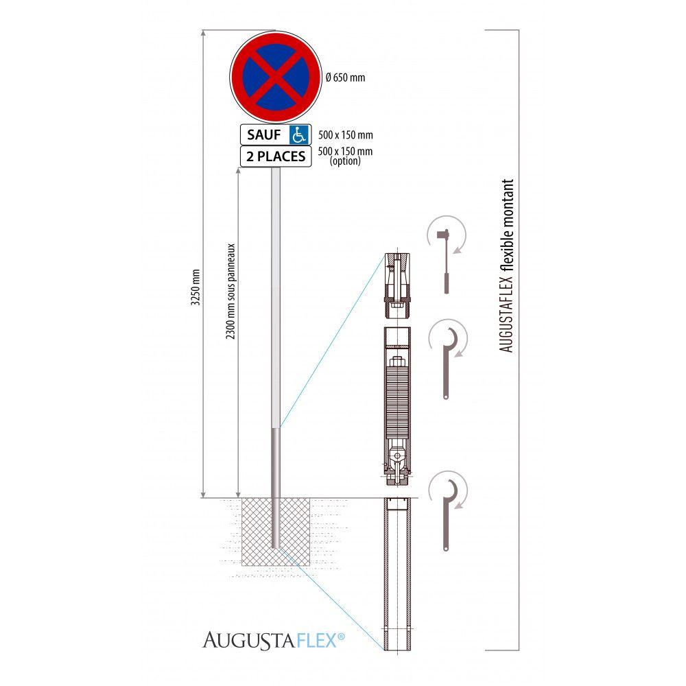 poteau anti choc augustaflex schema 2
