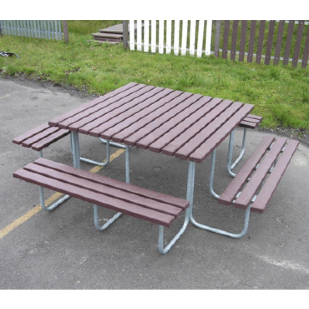 Table de pique-nique AREA en plastique recyclé - Tables ...